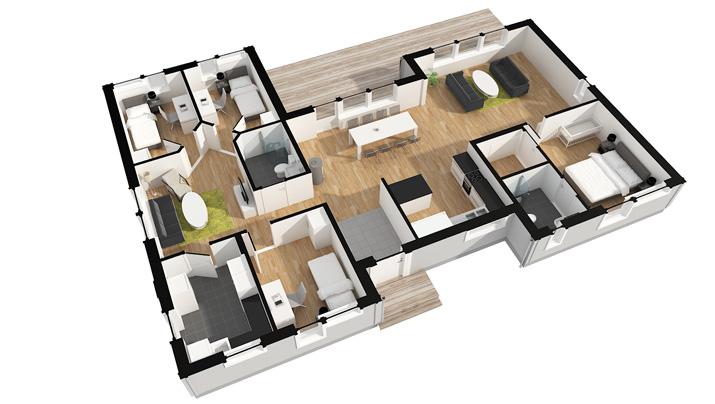Zweedshome kavels for Huis in 3d ontwerpen